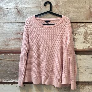 Tommy Hilfiger // pink cable knit sweater